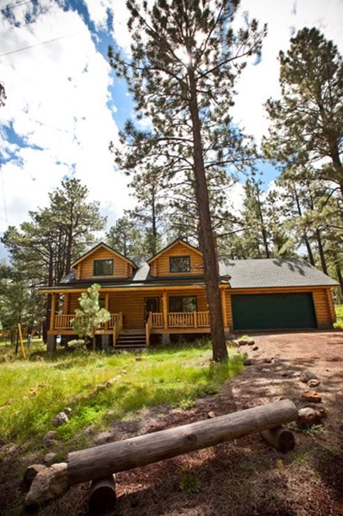 Americana a unique northwoods cabin vrbo for Az cabin rentals with hot tub