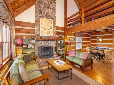 Photo for Rustic Cabin Near Hebron Rock Colony, Fireplace, King Bed, Flat Screens, Near Boone & Blowing Rock