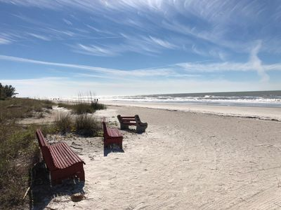 Photo for Large 1BR/1BA Beach Front Condo On Indian Shores Beach Sleeps 4 Comfortly
