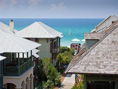 Photo for South Side 30A Downtown Rosemary Beach Rental with Gulf Views!!