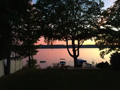 Photo for Three Birds Cottage: Level Skaneateles Lake Sunset Side