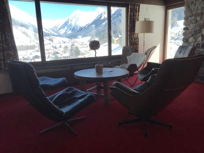 Living area overlooking Klosters