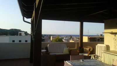 Photo for Rent New apartment with terrace overlooking the sea