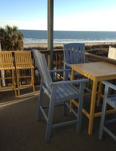 Deck Seating with Great View of Ocean