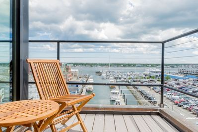 Private deck overlooking the Dimillo's marina. Watch the private yachts.