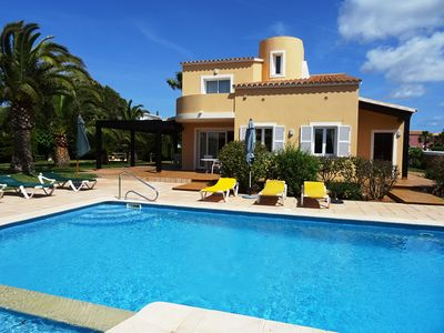 Photo for Luxory Villa, private heated pool, 400mt beach, full comfort