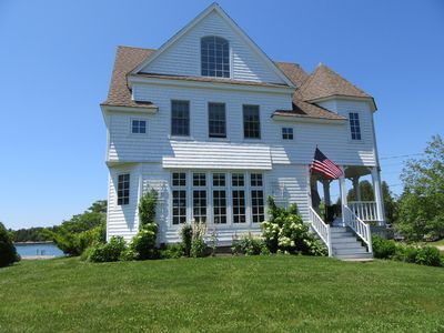 Photo for SALT WATER MAINE COTTAGE WITH DOCK - MINUTES TO BOTANICAL GARDENS