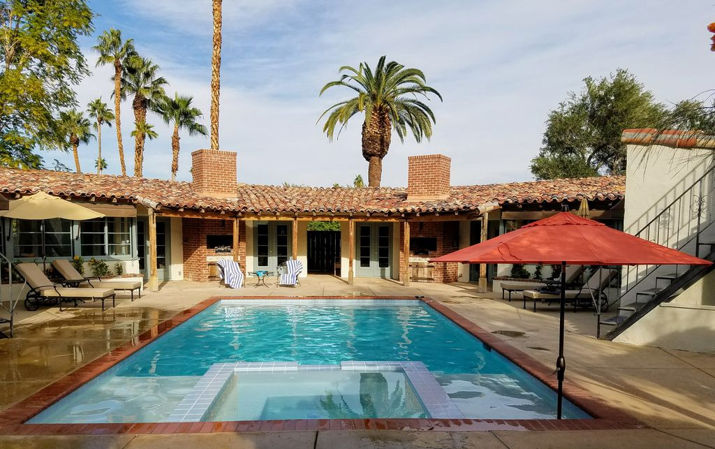 Restored 1937 Spanish Hacienda Style Compound New Saline Pool Spa Views Palm Springs