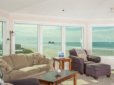 Photo for Oceanfront gem with room for up to 4 guests in Rockaway Beach for family fun!
