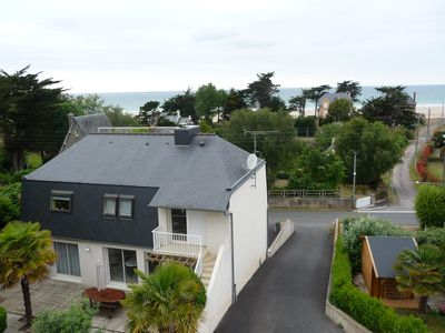 Photo for 11 persons' cottage, sea view, Pleneuf-Val Andre golf, Sables d'Or, 4 km away