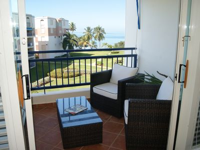 Photo for Beachfront penthouse at Haciendas Del Club, WiFi, Golf, Pool, Beach, sleeps 6