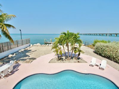 Photo for Tropical retreat ~ Private pool with Forever open water views