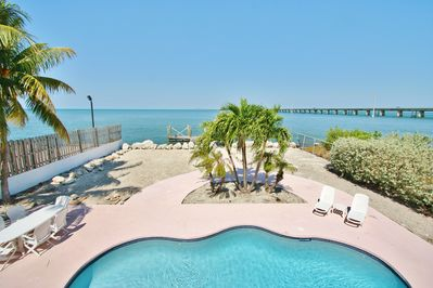 Oceanfront pool with a view