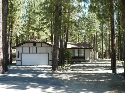 Comfortable cabin in a beautiful forest with a lot of room for boat or RV.