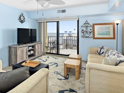 Photo for 1 Bedroom Condo With Side Ocean View and Outdoor Pool!
