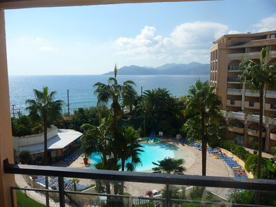 Photo for APARTMENT WITH BEAUTIFUL SEA VIEW CONDITIONING POOLS AND SANDY BEACH 50 M