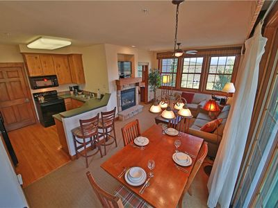 Photo for Serene ski condo with lovely covered porch in Granby Ranch