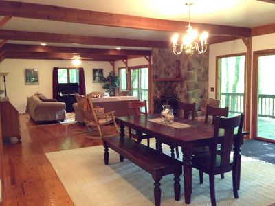 Photo for A Spacious Wooded Cabin with Scenic Views