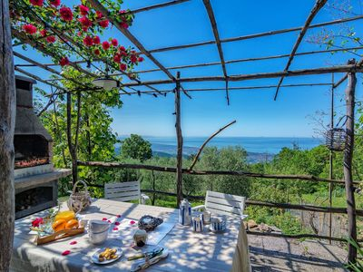 Photo for Romantic House for 6 People in Tuscany with Sea View, Wifi, Garden, 2 Bedrooms, 1 Bath
