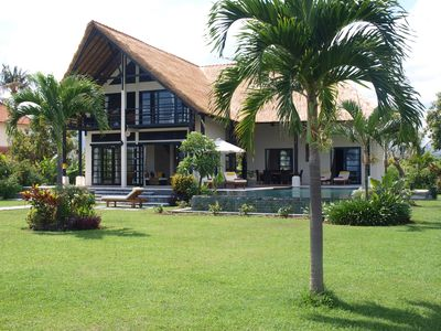 Photo for Luxurious, private villa for 6 people, directly on the beach and the sea, Lovina