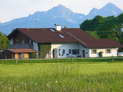 Photo for Comfortable apartment in Pfaffenwinkel in Upper Bavaria with private terrace