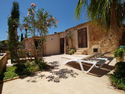 Photo for Apartment Casa Morocco with large terrace, AC, swimming pool, near Es Trenc