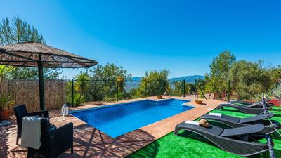 Photo for Rustic wooden house with pool - ideal for families