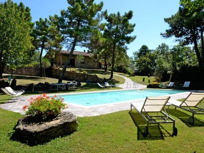 Photo for Top quality villa in stone with private pool and garden. Lucignano.
