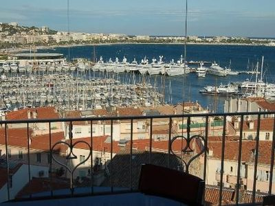 Photo for Charming Apartment T3 Conditioning Sea View Sea and Bay of Cannes 100m WIFI