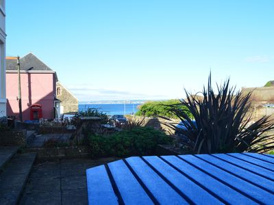Photo for 3 bed apartment in Hope Cove sleeps 6-7 with sea views only 50 yards from beach