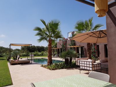 Photo for Modern villa 6 p. Silence, comfort, services 20 minutes from Marrakech