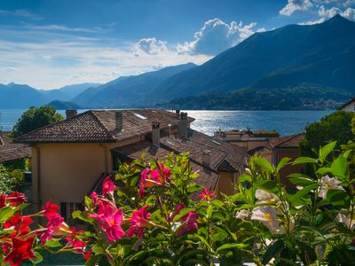 Photo for BELLAGIO'S SUNSET, appt with terrace and view of the lake in the historic center Bellagio