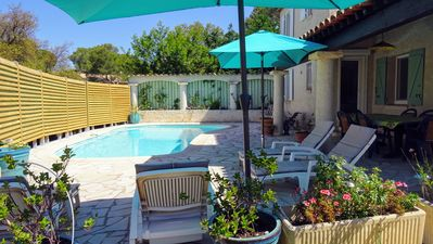 Photo for Villa Frejus, private pool not overlooked for 6 people
