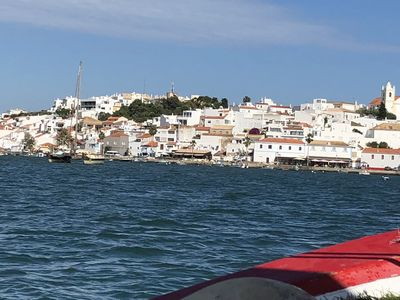 Ferragudo from the Estuary. The apartment is a stones throw from the water.