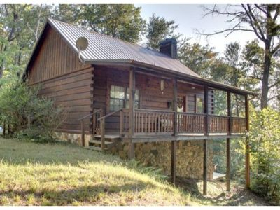 Photo for 3BR/2BA Cabin Sleeps 8, Secluded, Hot Tub, Screened Porch, Pool Table, Card and Checker Table, and W
