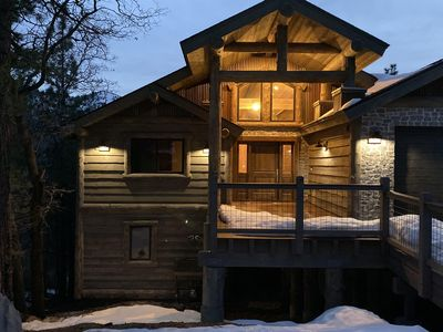 Photo for Brand New, Amazing 5Bdrm Cabin with Views of Slopes.