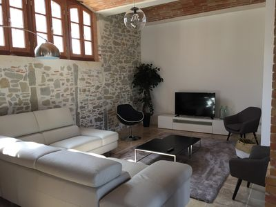 Photo for Carcassonne, Rent large luxury house, sleeps 15, near Canal du Midi
