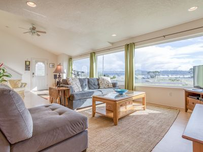 Photo for Stupendous Alsea Bay Views and Bay Access from this Bright, Open Home in Waldpor