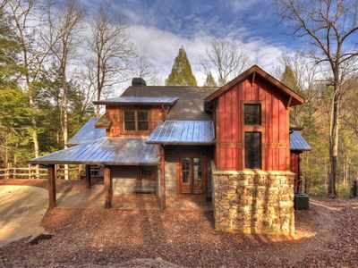 Photo for Custom Cabin, 3 Master Suites, River Front, Party Deck and More!