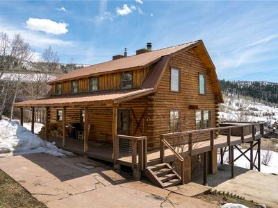 Photo for Private Steamboat with spacious layout, private hot tub, and mountain views!