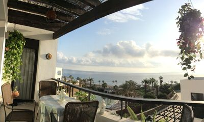 Photo for 5* sea view apartment on beach and golf resort
