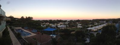 Just before sun up panoramic view