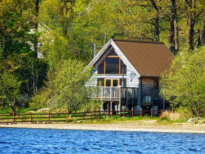 Photo for Luxury Lochside Lodge with Hot Tub on the shore of Loch Awe