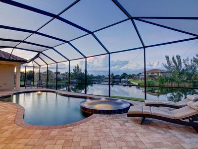 Photo for Villa Rosalinda 1065 SW Cape Coral 3 /3,5ba electric   heated pool and spa, gulf access canal