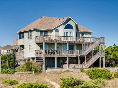 Photo for Escape to an Oceanfront Paradise in Salvo w/ Private Pool, Hot Tub, Dog-Friendly