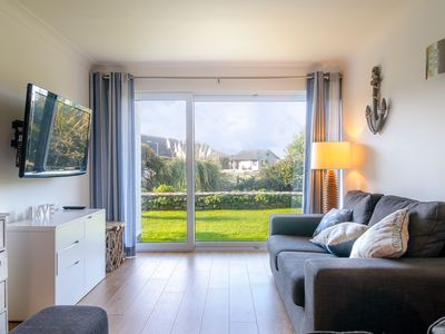 Photo for Mawgan Porth family friendly modern apartment with communal heated swimming pool, only 5 minutes fro