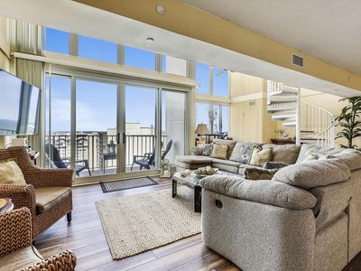 Photo for FREE DAILY ACTIVITIES and FREE WIFI! LINENS INCLUDED*! One of the most luxurious penthouse condos in Ocean City. Completely renovated with spectacular and breathtaking 2-story views of Ocean, Bay, and MD/DE coastline to Bethany.