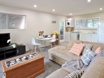 Photo for Perfect studio unit a stones throw from the beach