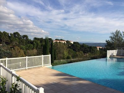 Photo for T2 with private garden in residence with swimming pool and tennis