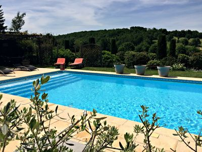 Photo for Stone cottage, heated pool, in the heart of the vineyards of Cahors, Lot